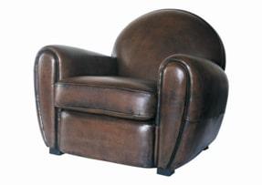 Fauteuil club cuir fauteuil cuir haut de gamme r dition meuble design - L histoire du fauteuil ...