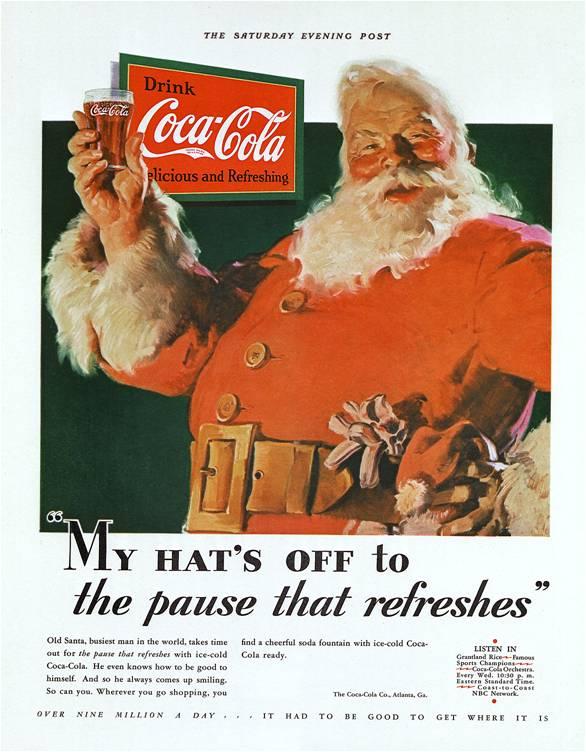 coca cola noël 1931
