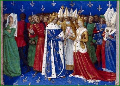 Mariage de Charles IV le Bel et de Marie de Luxembourg