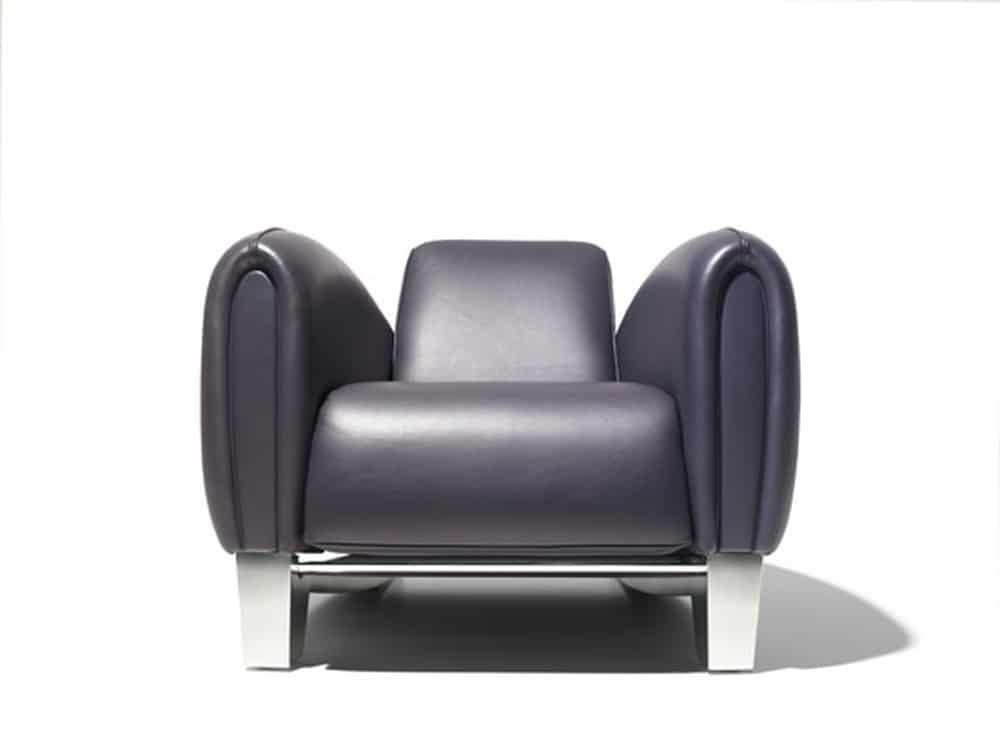 fauteuil club contemporain DS-57 par Franz Romero, trouvé sur www.arrivetz.com