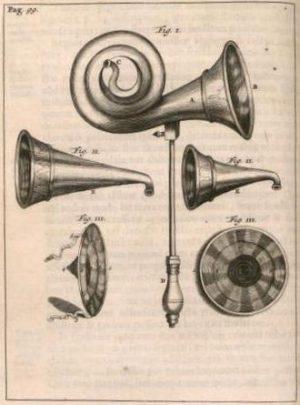 Schéma descriptif d'un appareil acoustique du 18e siècle